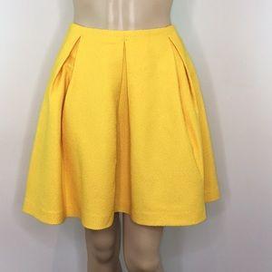 H&M Golden Round Skirt